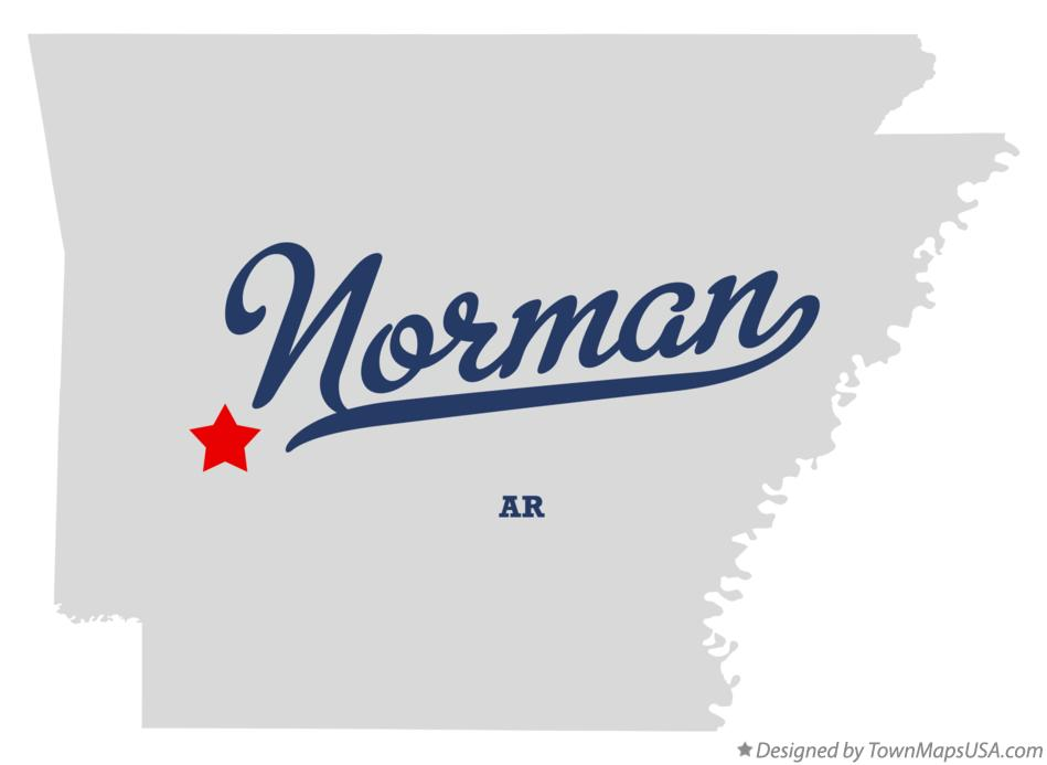 Map of Norman Arkansas AR