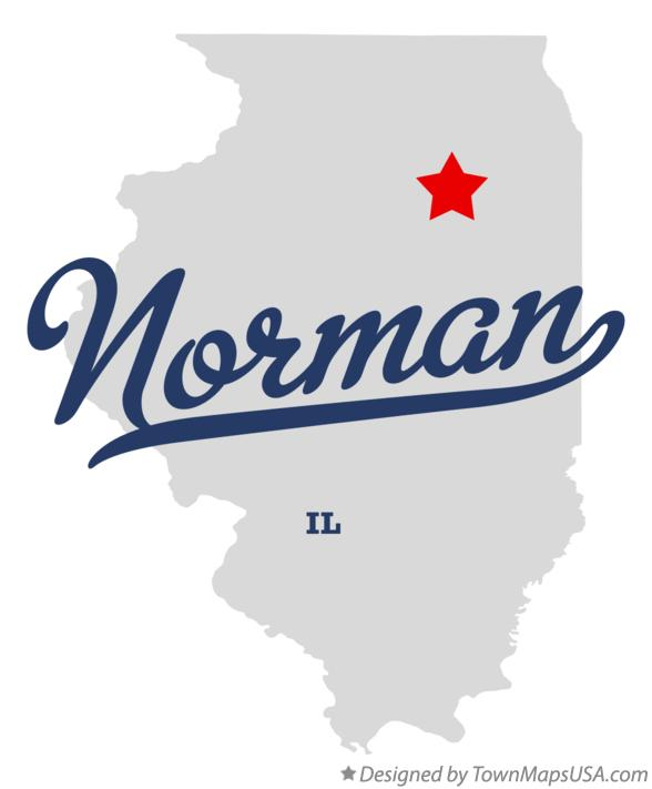 Map of Norman Illinois IL