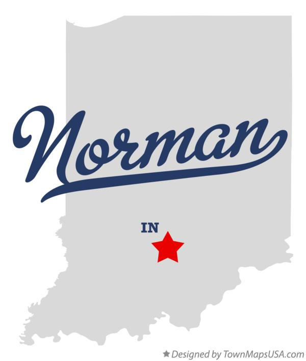 Map of Norman Indiana IN