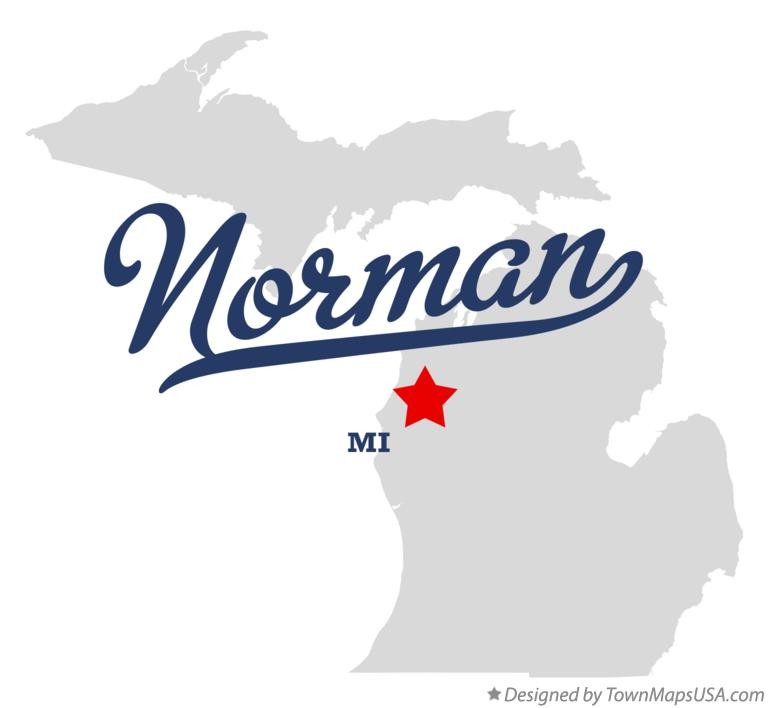 Map of Norman Michigan MI