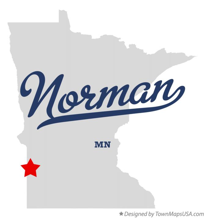 Map of Norman Minnesota MN