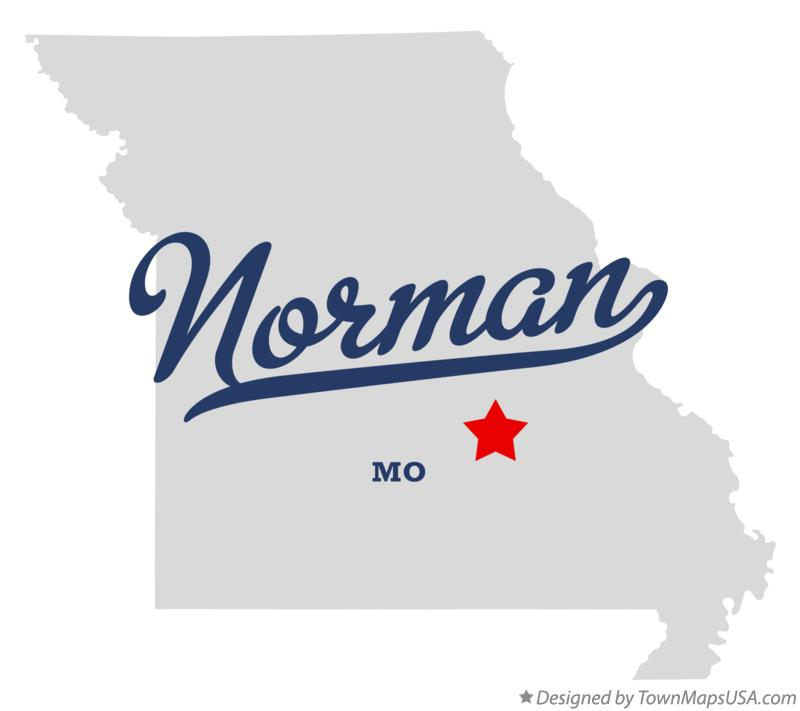 Map of Norman Missouri MO