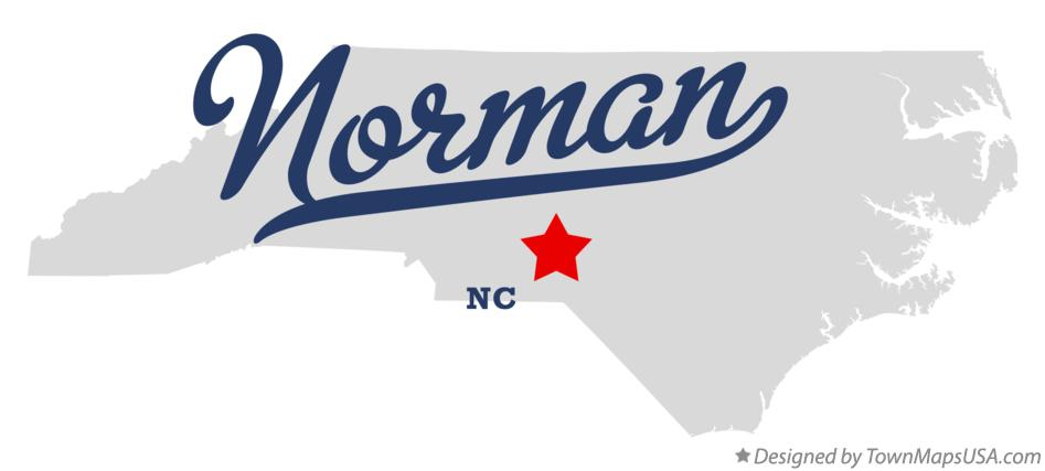 Map of Norman North Carolina NC
