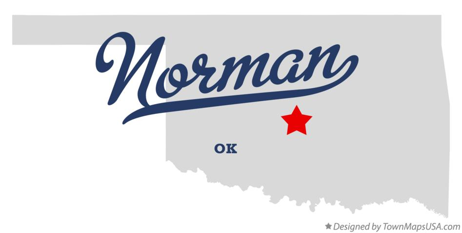 Map of Norman, OK, Oklahoma