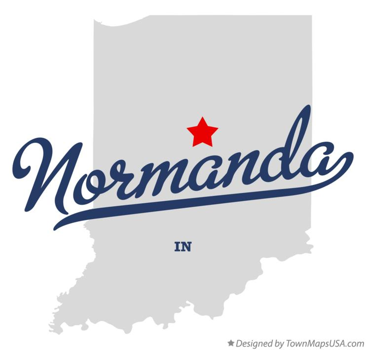 Map of Normanda Indiana IN