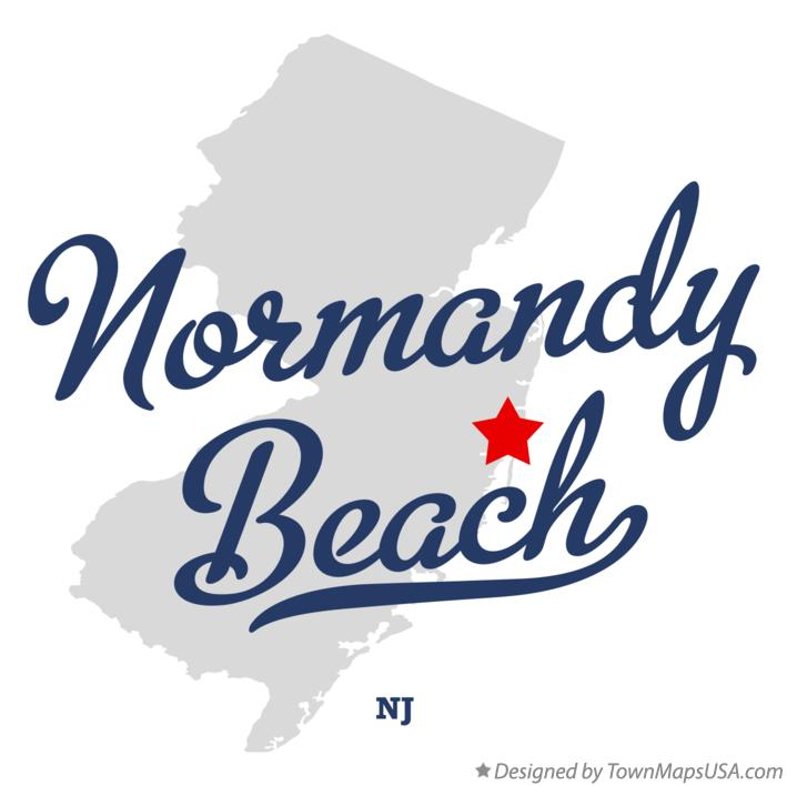 Map of Normandy Beach New Jersey NJ
