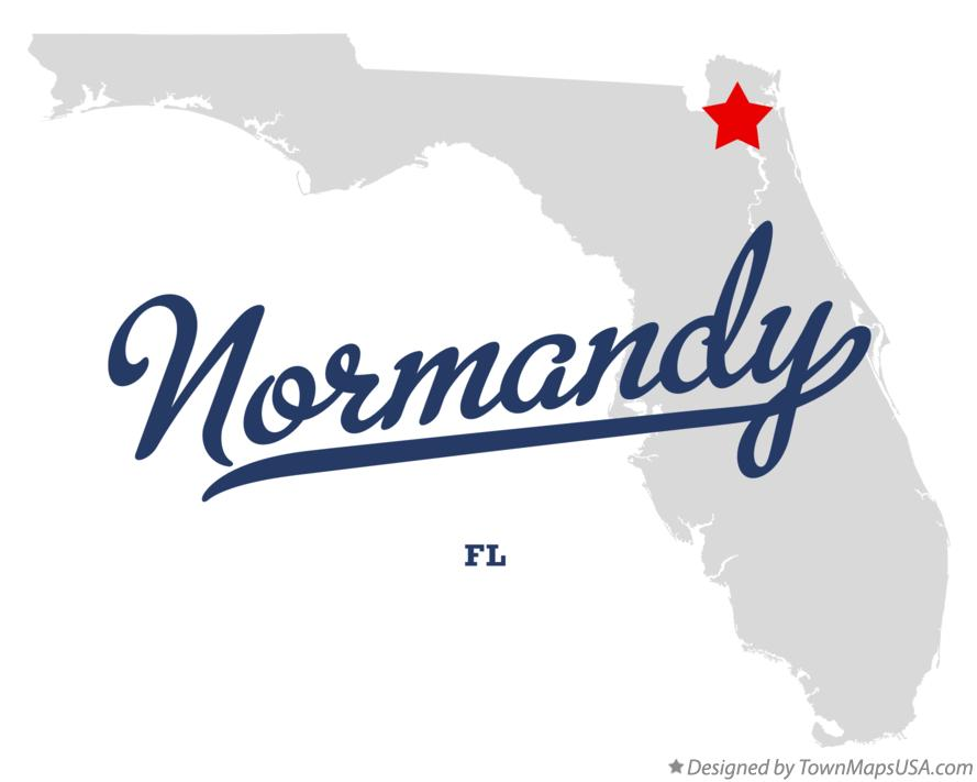 Map of Normandy Florida FL