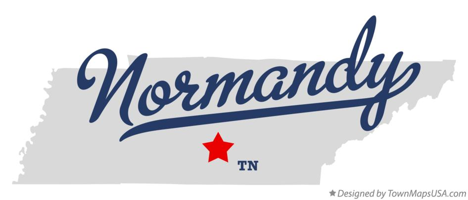 Map of Normandy Tennessee TN