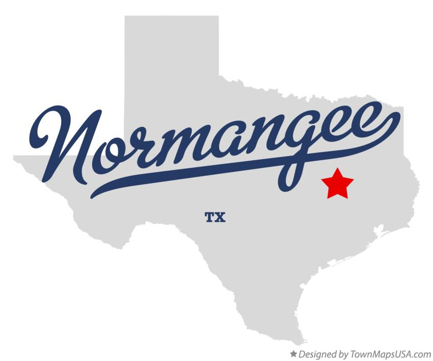 Map of Normangee Texas TX