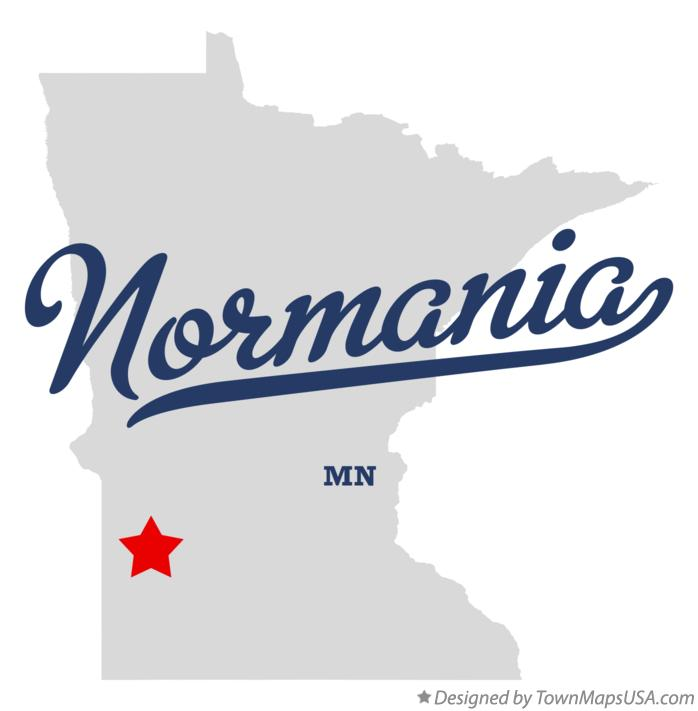 Map of Normania Minnesota MN