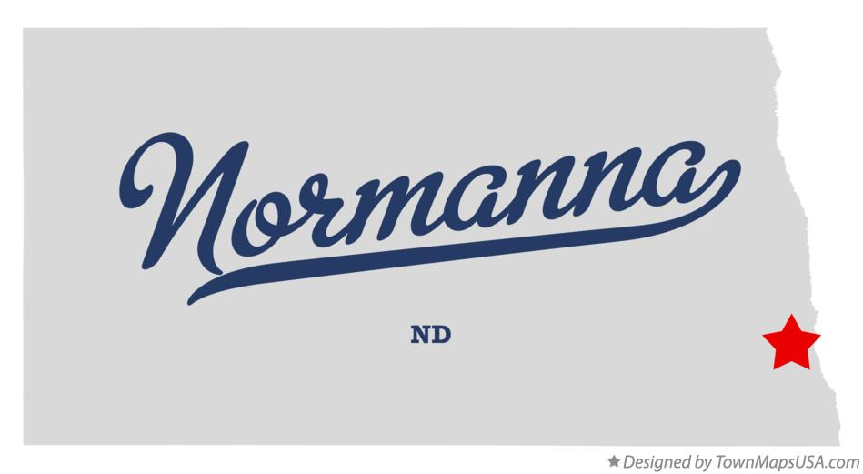 Map of Normanna North Dakota ND