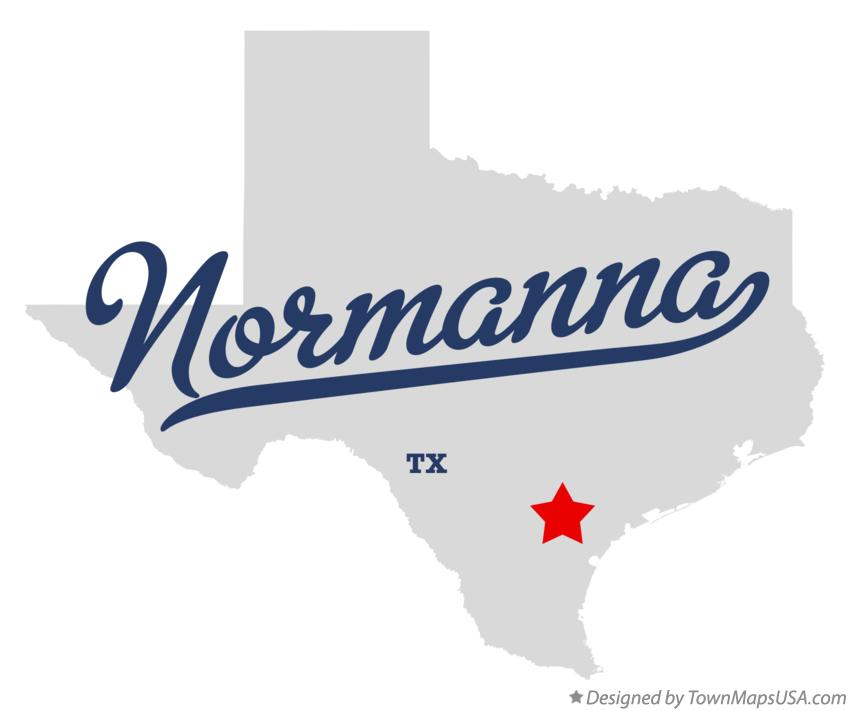 Map of Normanna Texas TX