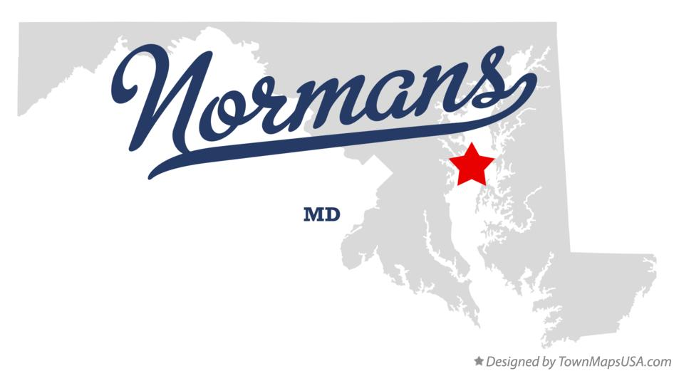 Map of Normans Maryland MD