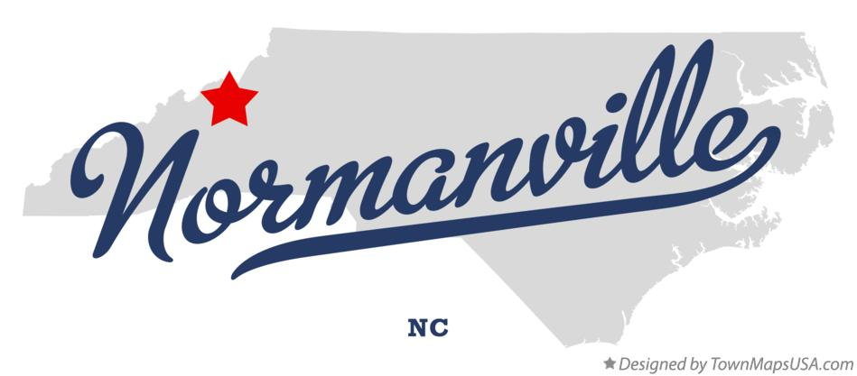 Map of Normanville North Carolina NC