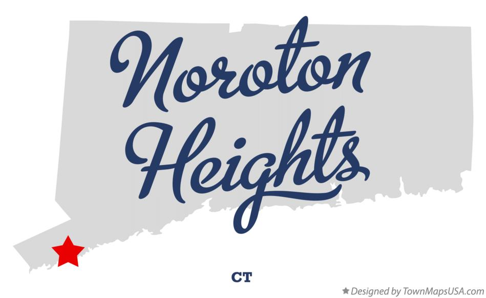 Map of Noroton Heights Connecticut CT