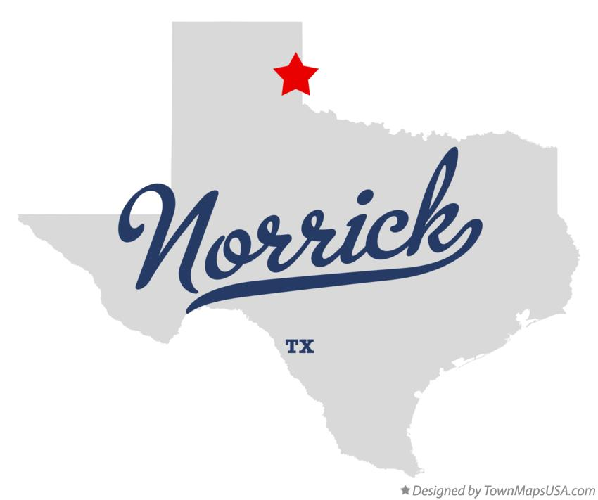 Map of Norrick Texas TX