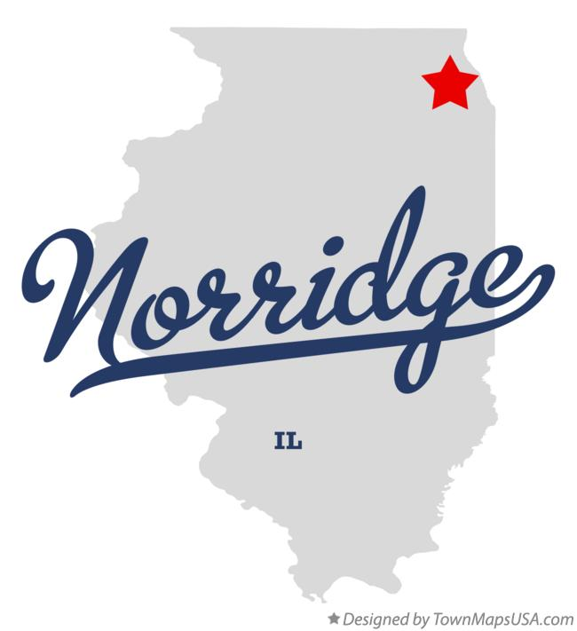 Map of Norridge Illinois IL