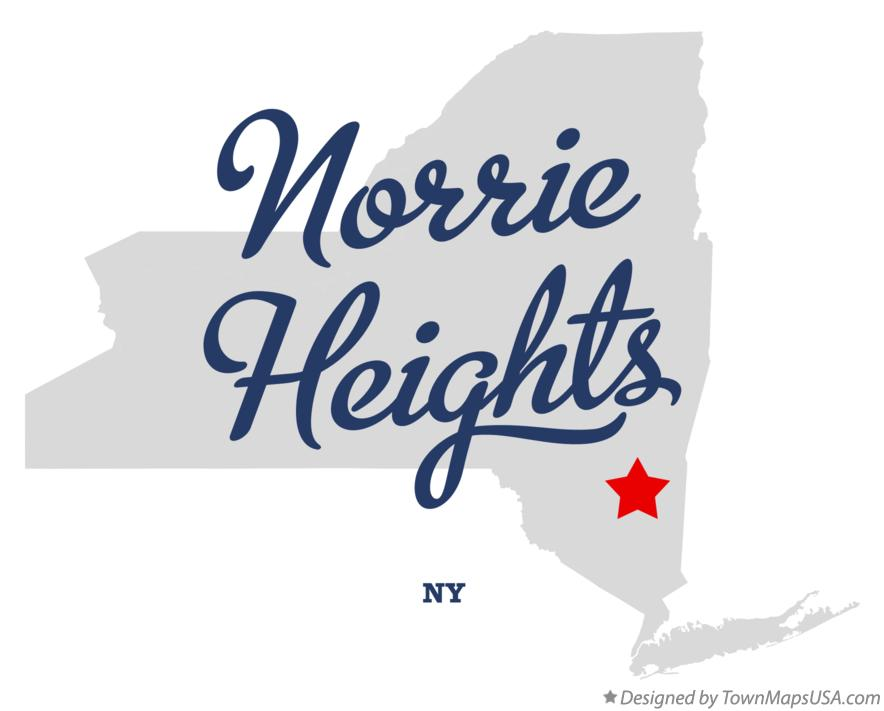 Map of Norrie Heights New York NY
