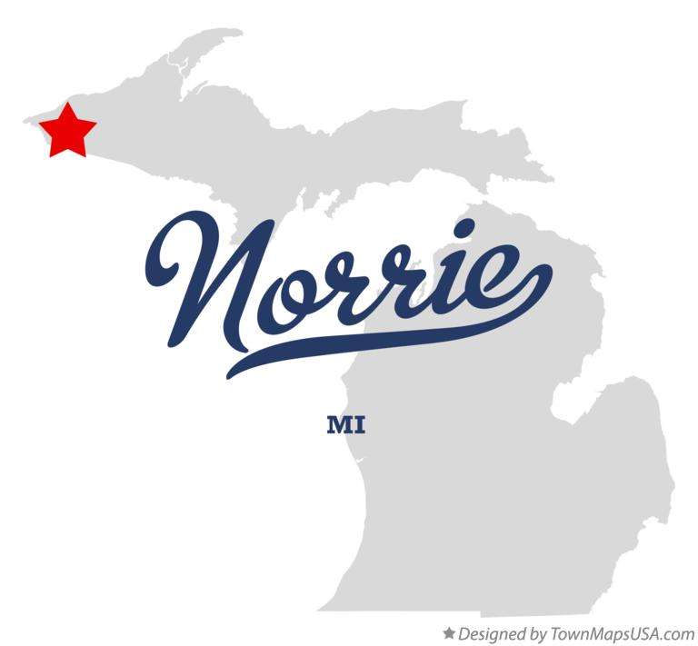 Map of Norrie Michigan MI