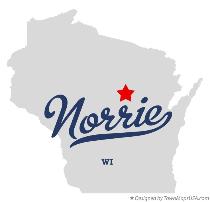 Map of Norrie Wisconsin WI