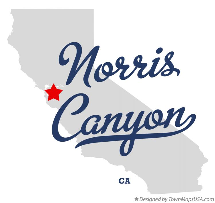 Map of Norris Canyon California CA