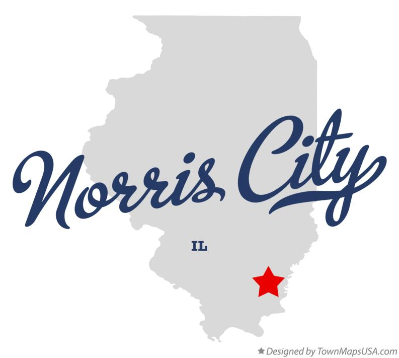 Map of Norris City Illinois IL