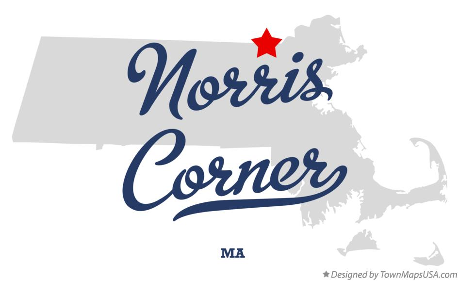 Map of Norris Corner Massachusetts MA