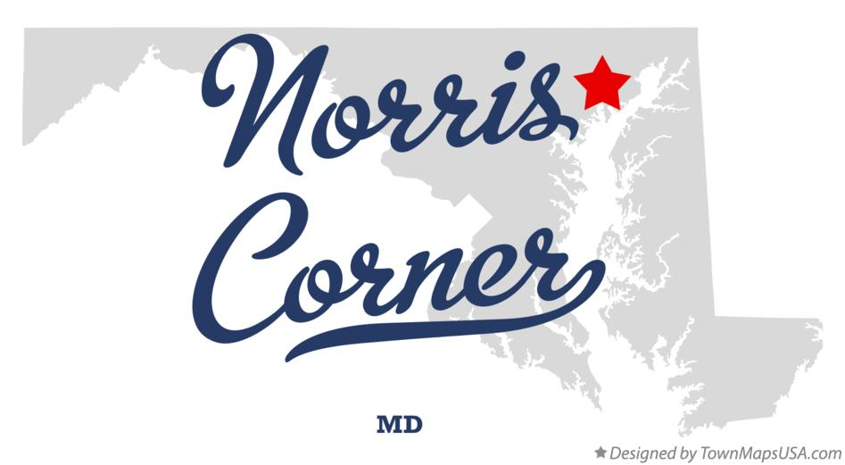 Map of Norris Corner Maryland MD