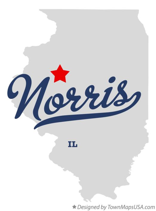 Map of Norris Illinois IL