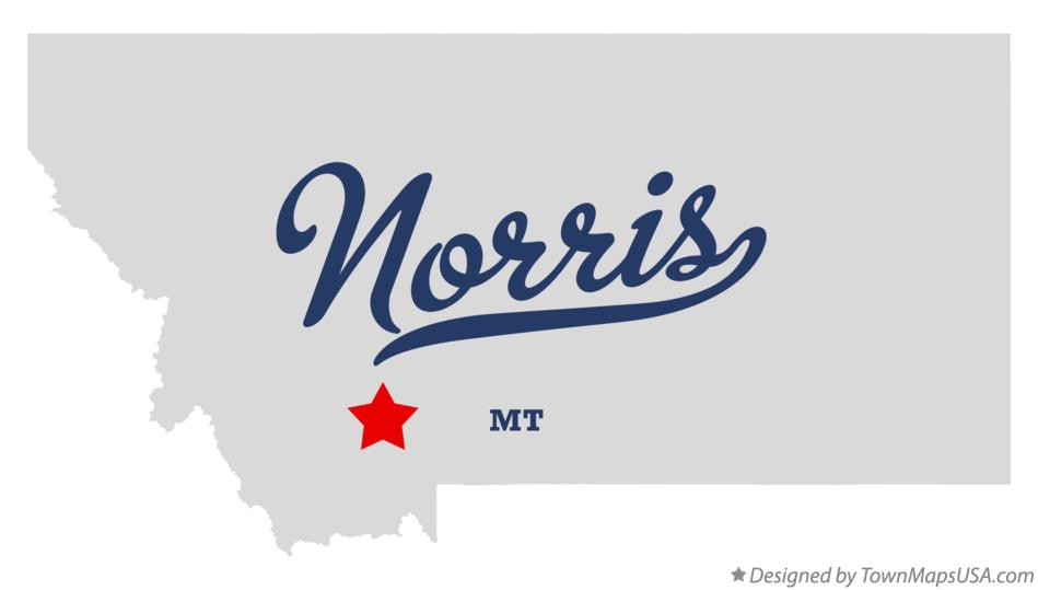 Map of Norris Montana MT