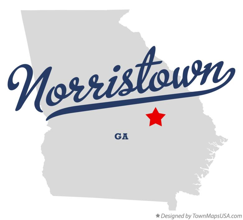Map of Norristown Georgia GA