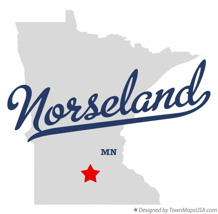 Map of Norseland Minnesota MN