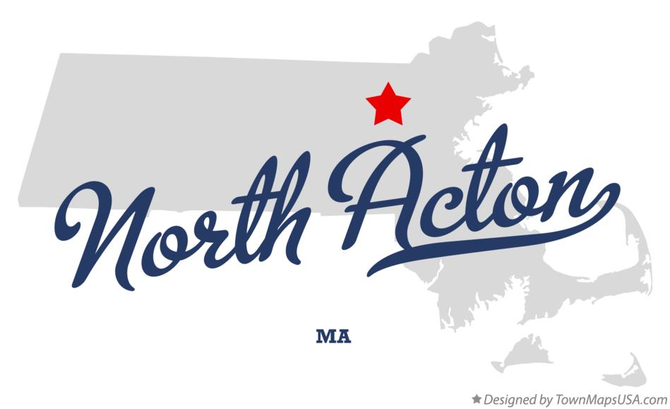 Map of North Acton Massachusetts MA