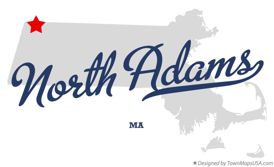 Map of North Adams Massachusetts MA