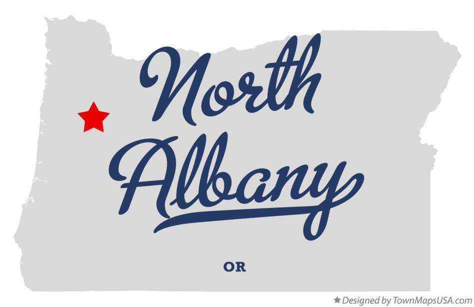 Map of North Albany Oregon OR