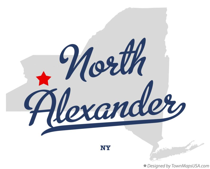 Map of North Alexander New York NY
