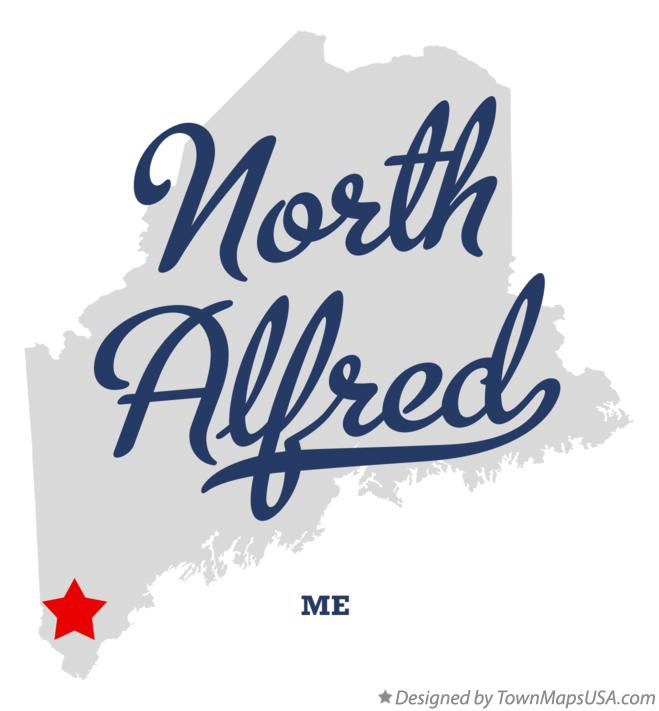 Map of North Alfred Maine ME