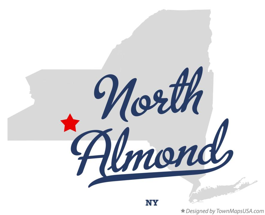 Map of North Almond New York NY