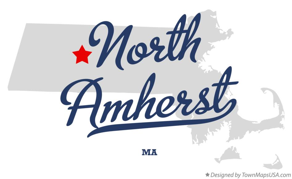 Map of North Amherst Massachusetts MA