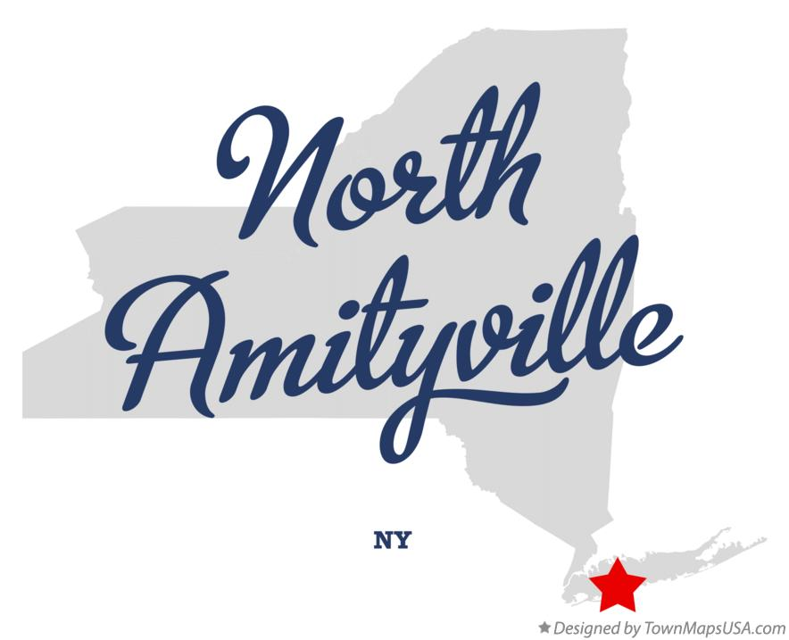Map of North Amityville New York NY