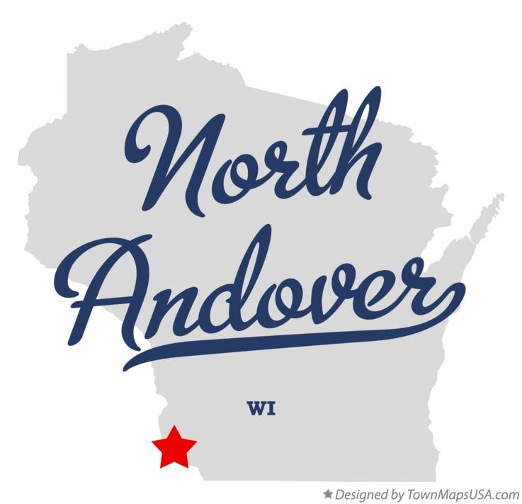 Map of North Andover Wisconsin WI