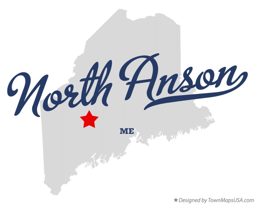 Map of North Anson Maine ME