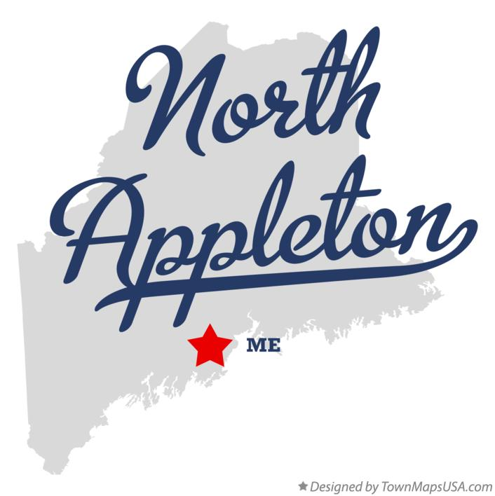 Map of North Appleton Maine ME