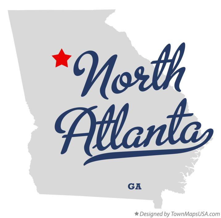 Map of North Atlanta Georgia GA