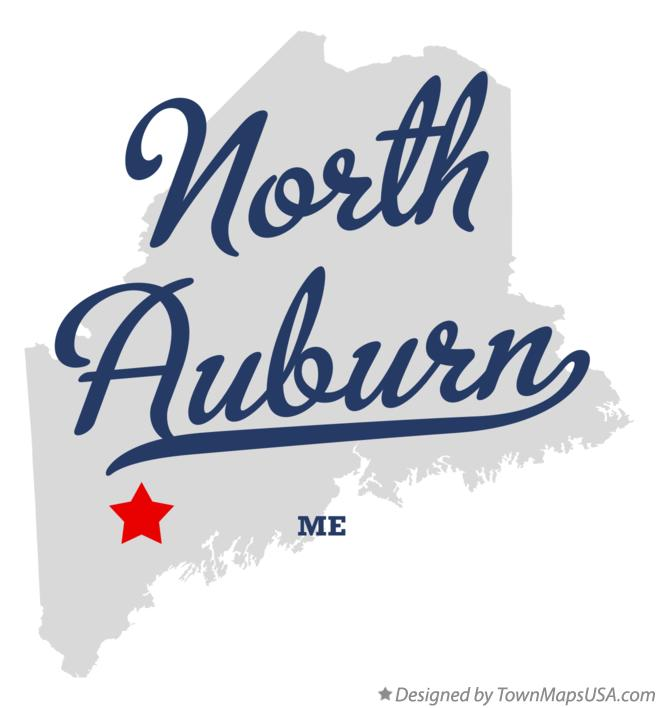 Map of North Auburn Maine ME