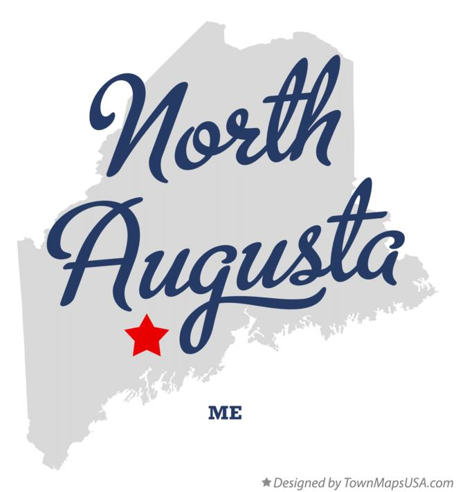 Map of North Augusta Maine ME