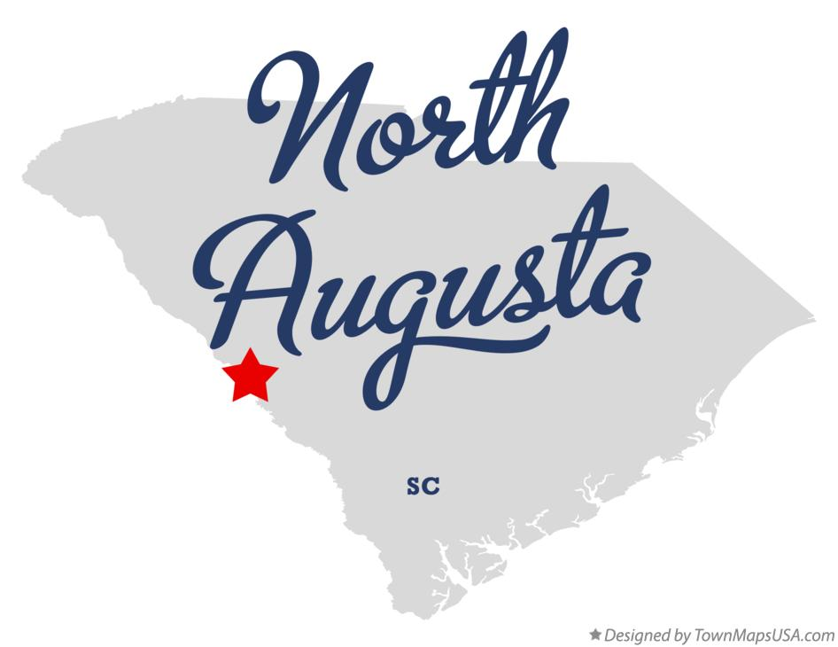 Map of North Augusta South Carolina SC