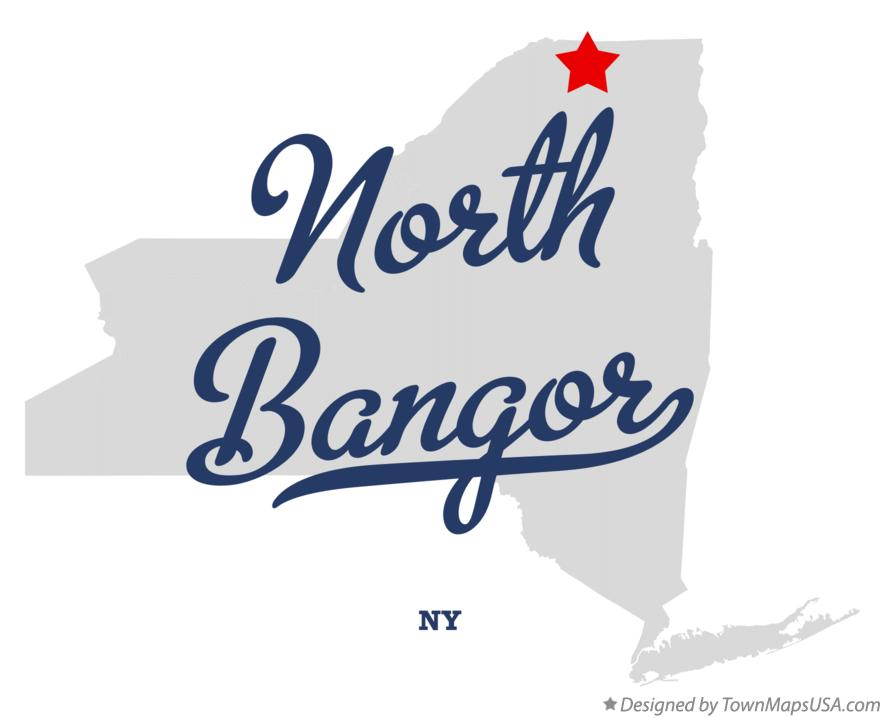 Map of North Bangor New York NY