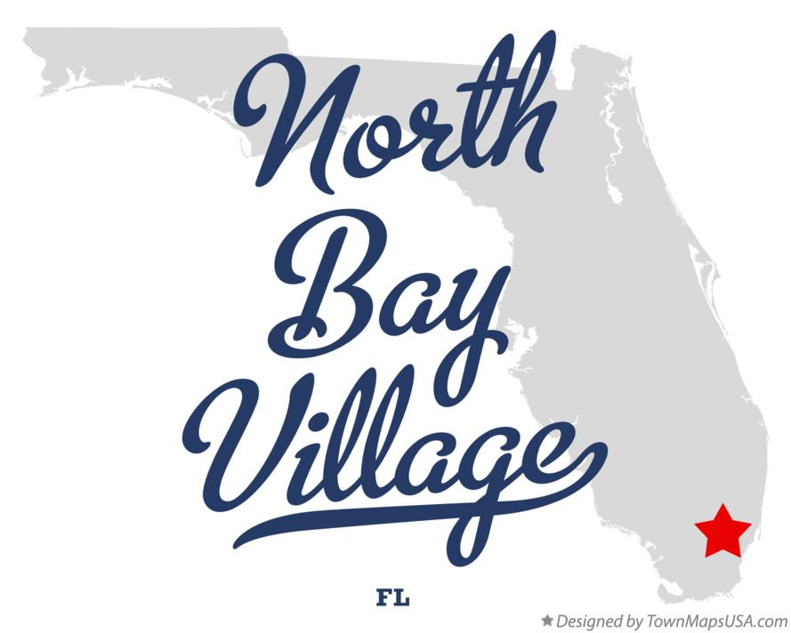 Map of North Bay Village Florida FL