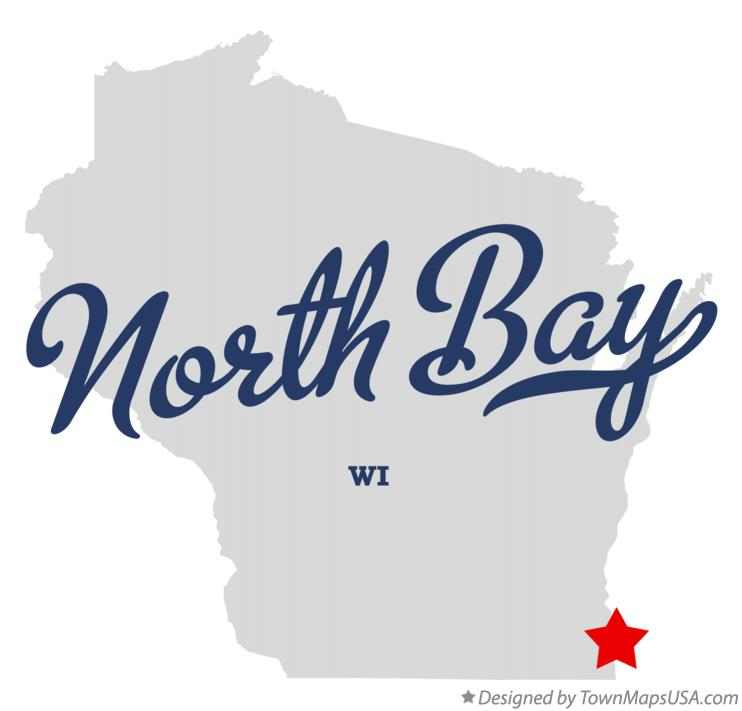 Map of North Bay Wisconsin WI
